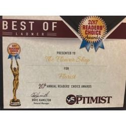 Readers' Choice award 2017