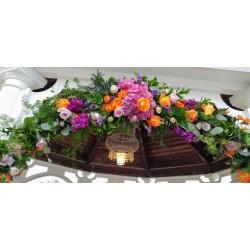 Floral gazebo swag