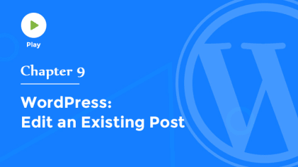 Edit an Existing Post in WordPress