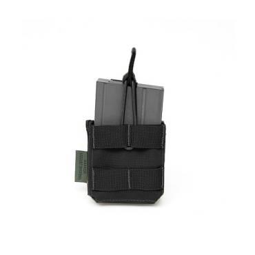 Warrior Single 7.62 x 51mm Open Short Mag Pouch Black