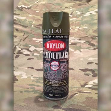 Krylon Camoflage Spray Paint Woodland Green