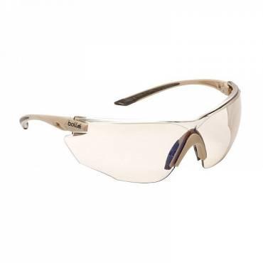 Bolle Hybrid Ballistic Glasses Kit Sand Smoke, Clear and ESP Lenses, Tan Frame