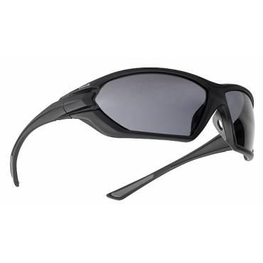 Bolle Assault Ballistic Sunglasses, Polycarbonate Smoke Lenses Black frames