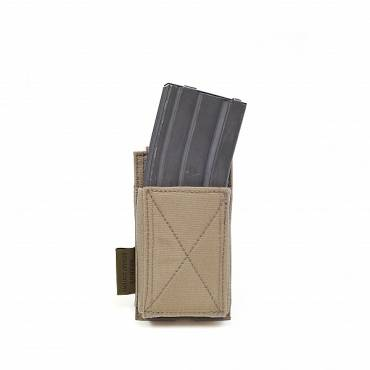Warrior Single Elastic Mag Pouch Coyote Tan