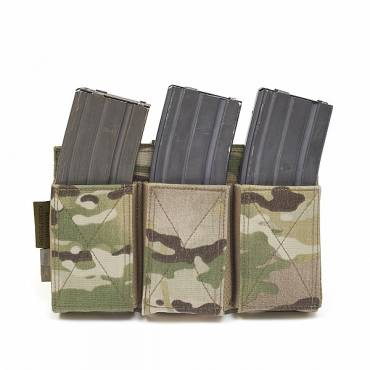 Warrior Triple Elastic Mag Pouch MultiCam