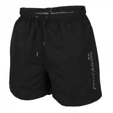 Pentagon K05019 Hippocampus Swimming Shorts Black