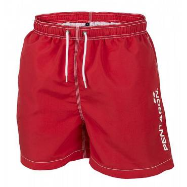 Pentagon K05019 Hippocampus Swimming Shorts Red