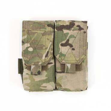 Warrior Double G36 Covered Mag Pouch MultiCam