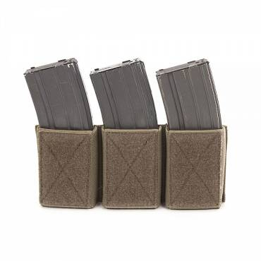 Warrior Triple Velcro Mag Pouch for 5.56mm Mags. For use with W-EO-CPC Coyote Tan