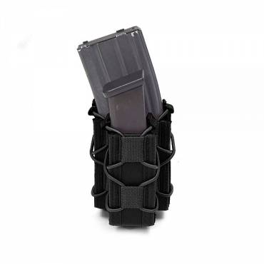 Warrior Single Quick Mag with Single Pistol Pouch Black