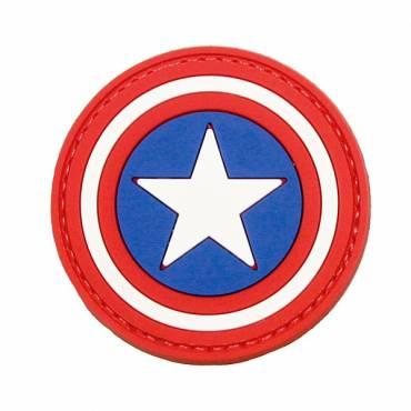 Captain America Rubber Velcro Patch