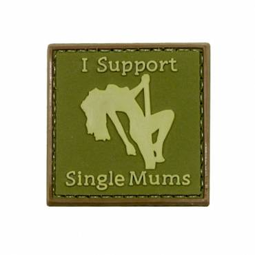 I Support Single Mums Rubber Velcro Patch