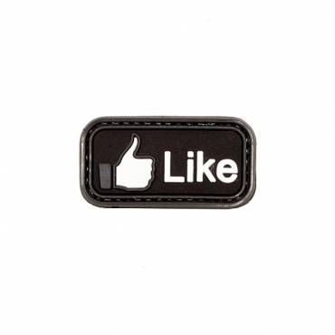 Tactical Like Black Rubber Velcro Patch