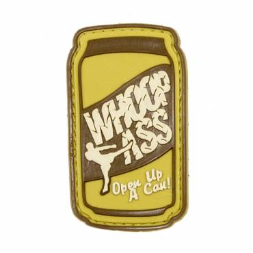 Open Up A Can Of Whoop Ass Rubber Velcro Patch