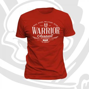 Warrior Vintage T-Shirt Red