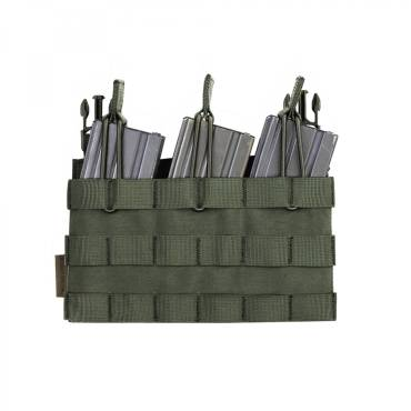 Warrior Detachable Front Panel Triple MOLLE Open Pouch OD Green
