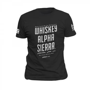 Whiskey Alpha Sierra T-Shirt Black
