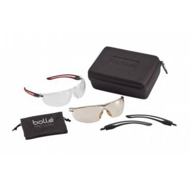 Bolle Gunfire Tactical Kit including clear PC Lens Spectacles  ASAF Platinum coating