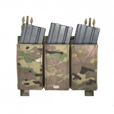 Warrior Removable Triple Elastic Mag Pouch Multicam