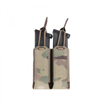 Warrior Laser Cut Double Bungee Pistol Pouch MultiCam