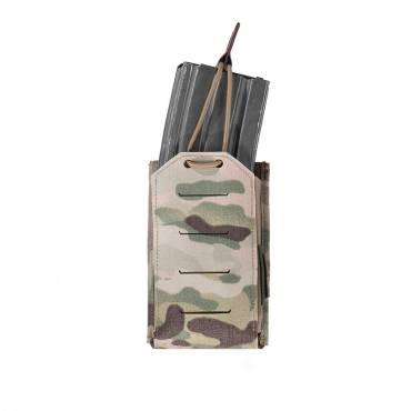Warrior Laser Cut Single Bungee 5.56 Pouch MultiCam