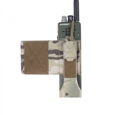 Warrior Laser Cut Wing Velcro MBITR / Harris Radio Pouch MultiCam