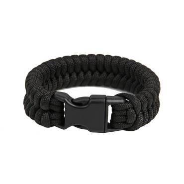 Survival Paracord Bracelet Fish Black