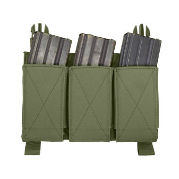 Warrior Detachable Front Panel Triple Elastic Mag Pouch OD Green