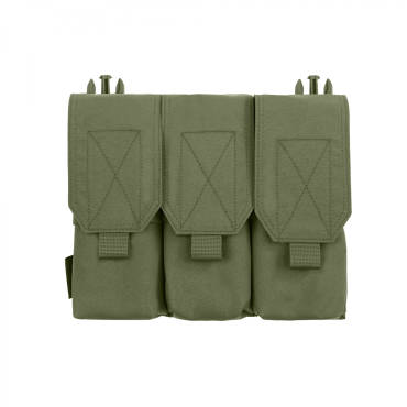 Warrior Detachable Front Panel Triple Covered M4 Pouch Olive Drab