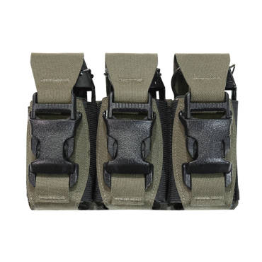 Warrior Laser Cut Triple 40mm Flash Bang Pouch Ranger Green