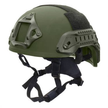 Nexus Olive Green SF M3 Helmet with Rails, NVG Shroud, BOA Dialler and Velcro