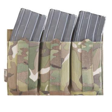 Warrior Laser Cut Detachable Front Panel, Triple Bungee, Low Profile Elastic 5.56 Mag Pouch MultiCam