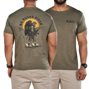 511 No Rucks Given S/S Tee Military Green HTR