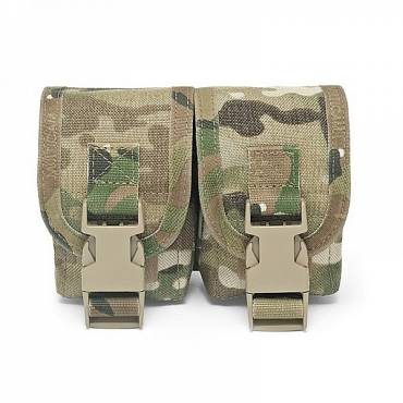 Warrior Double Frag Grenade Pouch MultiCam