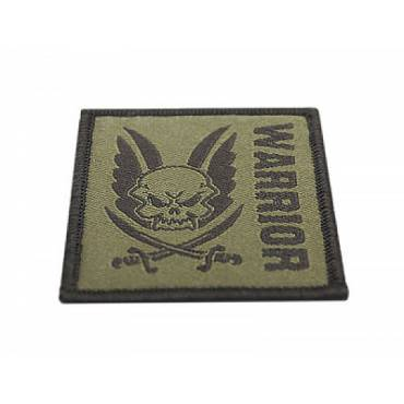 Warrior Square Velcro Patch Dark Earth