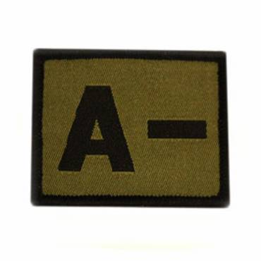 Warrior A - Negative Velcro Patch - Olive