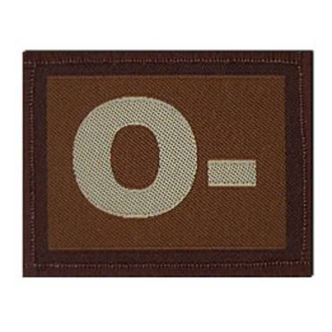 Warrior O - Negative Velcro Patch - Tan