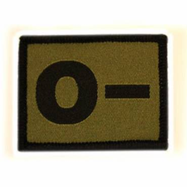 Warrior O - Negative Velcro Patch - Olive