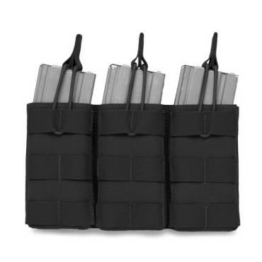 Warrior Triple Open 5.56mm Open Mag Pouch Black