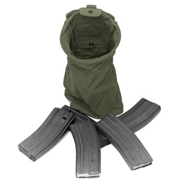 Warrior Slimline Foldable Dump Pouch Olive Drab