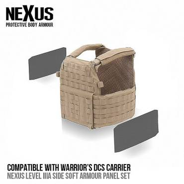 Nexus DCS Level 3a Soft Armour Sides (Set of 2)
