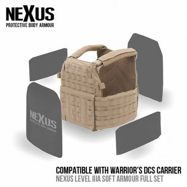 Nexus DCS Level 3a Soft Armour Front, Back & Sides