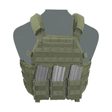 Warrior Elite Ops DCS Plate Carrier With 3 x Quick Mags OD