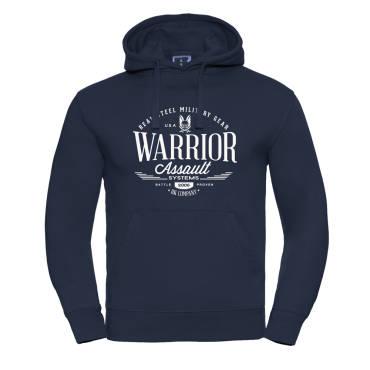 Warrior VINTAGE Hoodie Navy Blue