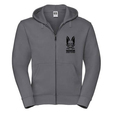 Logo Hoodie With Full Zip Charcoal