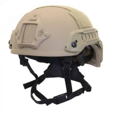 Nexus Tan SF M3 Helmet with Rails, NVG Shroud, BOA Dialler and Velcro