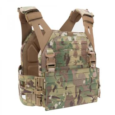 Warrior Laser Cut Low Profile Carrier V2 With ladder Sides MultiCam