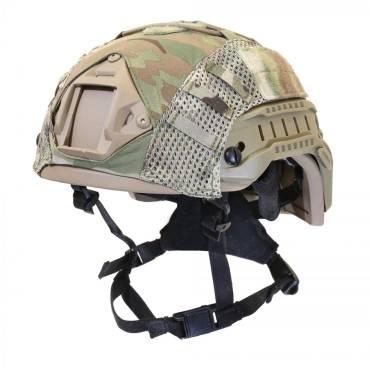 Nexus Tan SF M3 Helmet with Rails, NVG Shroud, BOA Dialler and MultiCam Helmet Cover