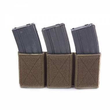 Warrior Triple Velcro Mag Pouch for 5.56mm Mags. For use with W-EO-CPC MultiCam