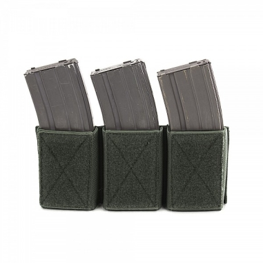 Warrior Triple Velcro Mag Pouch for 5.56mm Mags. For use with W-EO-CPC Olive Drab